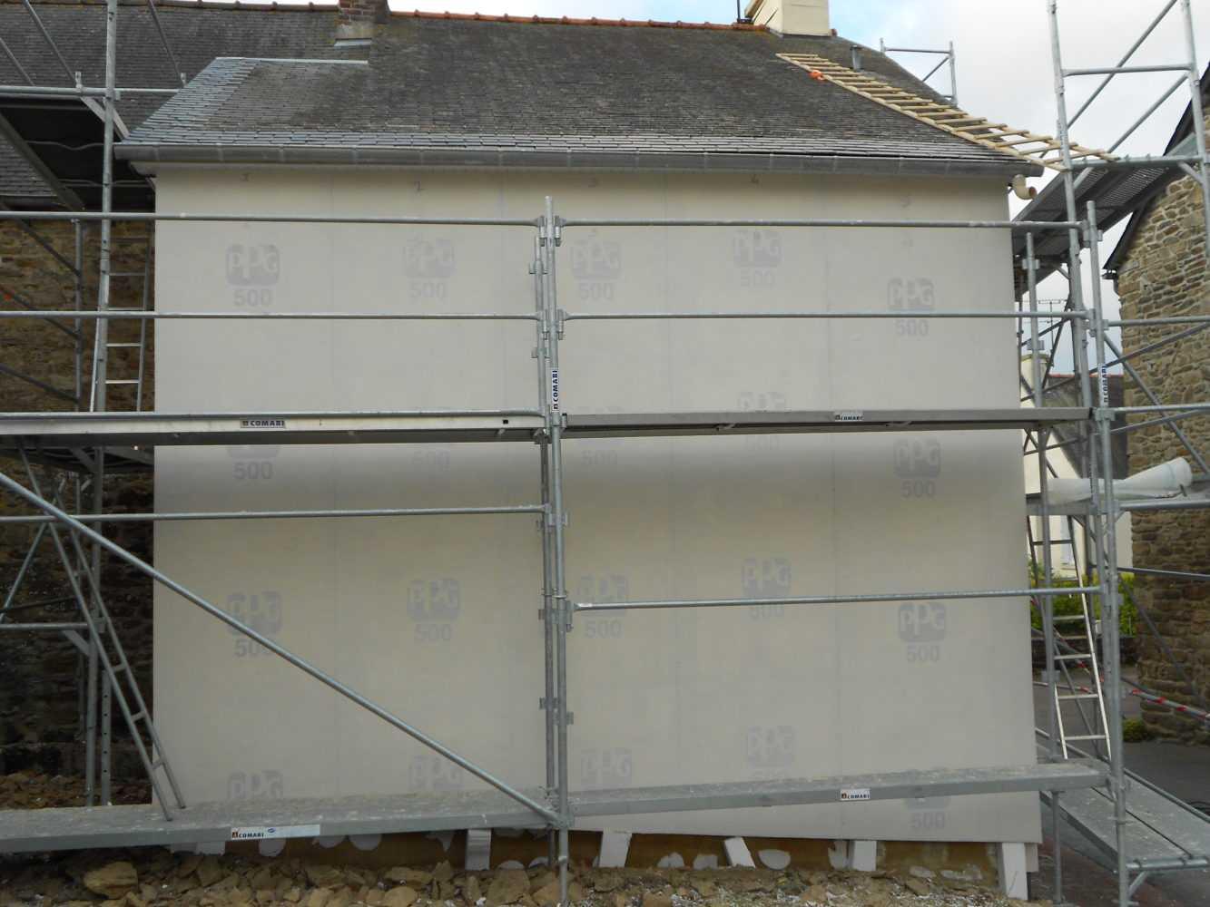Isolation exterieure RGE thermique enduit Loudeac Pontivy 36 - Isolation extérieure