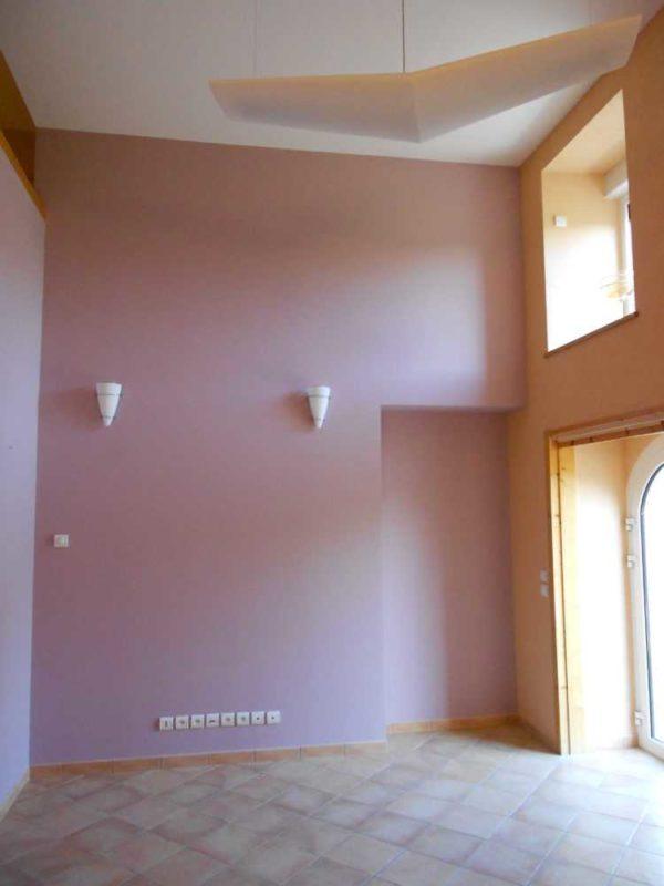 Peinture interieure mur plafond boiseries Loudeac Pontivy 22 - Mur