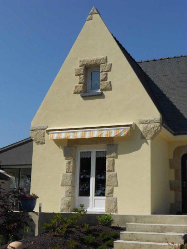 Ravalement facade peinture exterieure Loudeac Pontivy 19 - Ravalement maison