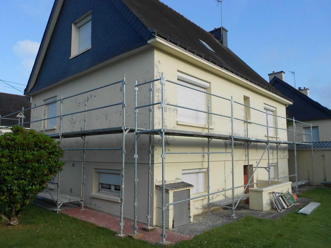 Ravalement facade peinture exterieure Loudeac Pontivy 2 - Ravalement de façade