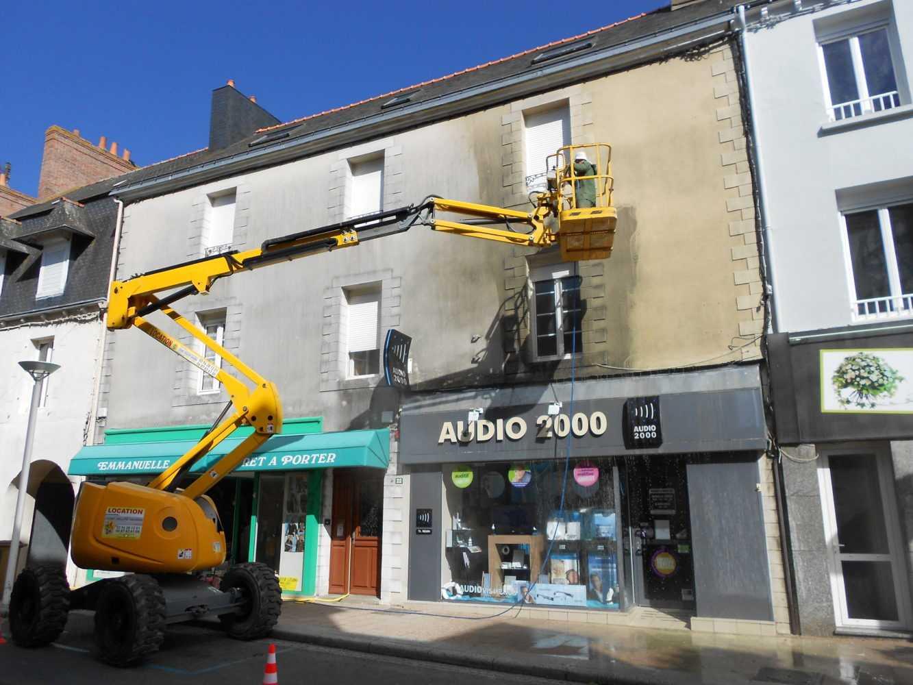 Ravalement facade peinture exterieure Loudeac Pontivy 3 - Ravalement de façade