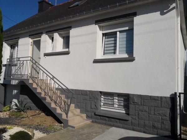 Ravalement facade peinture exterieure Loudeac Pontivy 31 - Ravalement maison