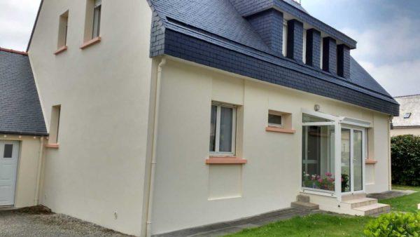 Ravalement facade peinture exterieure Loudeac Pontivy 32 - Ravalement maison